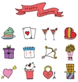 Element of valentine day various collection vector image vector image