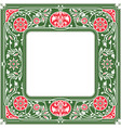 floral square framewhite space in the centre vector image