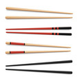 food wooden chopsticks realistic vector image vector image