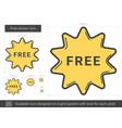 free sticker line icon vector image