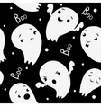 Ghosts Seamless Pattern pattern in cartoon style vector image vector image