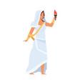 greek goddess hestia vesta vector image vector image