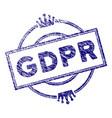 grunge textured gdpr royal stamp seal vector image