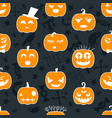 halloween background seamless pattern design vector image vector image