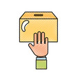 hand human with urn vector image
