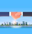 hand shake icon business handshake partnership vector image vector image