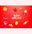 happy birthday concept with gift boxes vector image