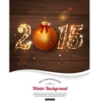 happy new year 2015 celebration concept vector image