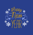 happy new year 2019 holiday wish written vector image vector image