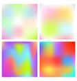 holographic blurred background iridescent vector image vector image