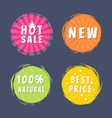 hot sale new 100 natural best price promo stickers vector image vector image