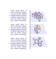 human intelligence simulation concept icon with vector image