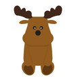 isolated stuffed moose toy vector image vector image