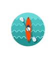 Kayak icon Canoe Summer Vacation vector image