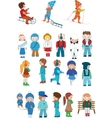 kids cartoon set vector image vector image