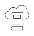 library cloud computing concept icon vector image vector image