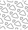line nature fluffy cloud nice background vector image