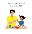 little girl and a his father baking cookies vector image