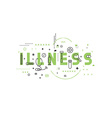 Medicine concept illness vector image