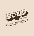 modern bold typeface font design alphabet letters vector image vector image
