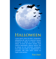 Moon and bats vector image vector image