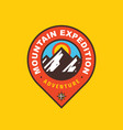 mountain expedition badge design adventure travel vector image vector image