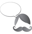Moustache man icon vector image vector image