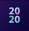 new year 2020 card in minimalist style greeting vector image