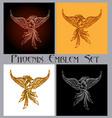 phoenix emblem set vector image vector image