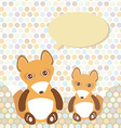 Polka dot background pattern Funny cute fox with vector image vector image