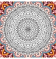Printable coloring book page for adults - mandala vector image vector image