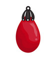 punching bag isolated vector image