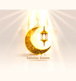 ramadan cover card drawn mosque night view from vector image