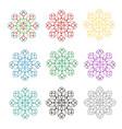 rosette decorative ornamental floral pattern vector image vector image