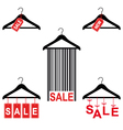sale tags on clothes hanger set vector image