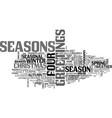 seasonal word cloud concept vector image vector image