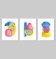set abstract modern creative posters vector image vector image