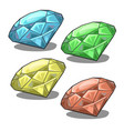 set of four colorful chips for three in row games vector image vector image