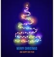 Shiny Christmas tree vector image