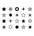 star shapes set different stars shapes christmas vector image vector image