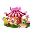 sweet little house vector image
