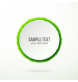 text with grass vector image vector image