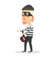 thief stealing with bag of money vector image
