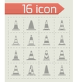 Traffic cone icon set vector image