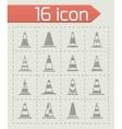 Traffic cone icon set vector image vector image