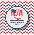 usa independence day card vector image vector image