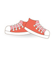 young shoes vector image