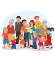big happy family - great-grandfather great vector image