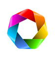Abstract rainbow polygon icon for your design vector image
