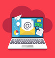 email marketing internet campaign strategy and vector image
